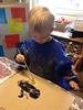 Muslingerne maler stæren - meget koncentrerede børn