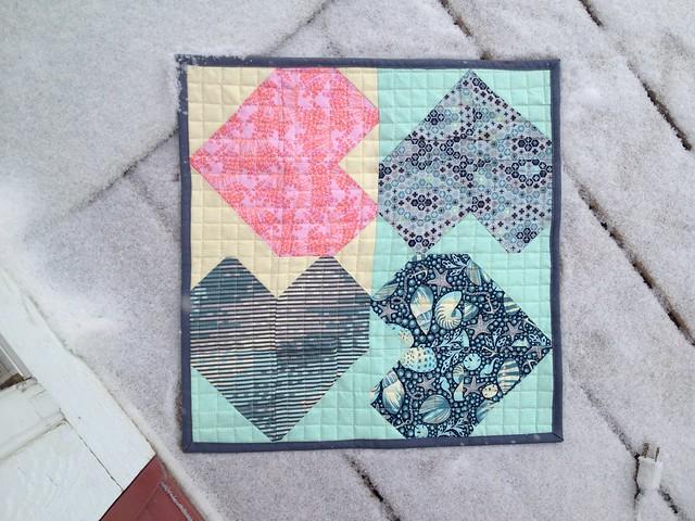 Valentines mini quilt