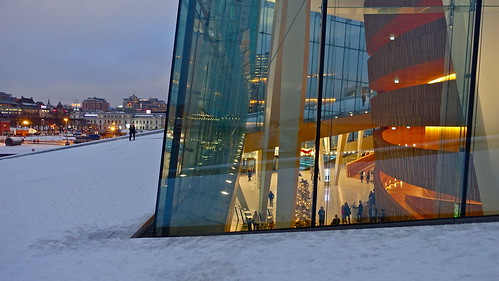 Operahuset (opera house), Oslo, Norway, Christmas 2014
