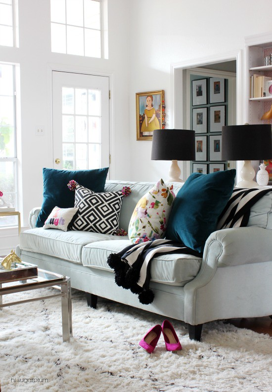 Living room the reveal hi sugarplum bloglovin Hi sugarplum