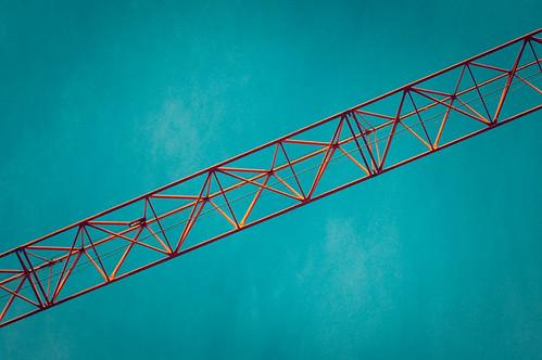 sky sunrise construction crane boom jib lattice towercrane
