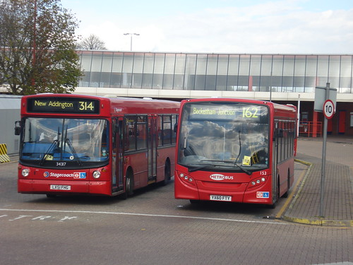 Stagecoach London 34317 (Route 314), Metrobus 153 (Route 162), Eltham Station, 21/04/12