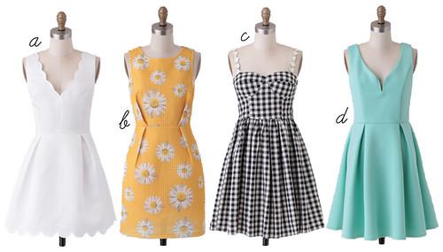 spring dresses, ruche