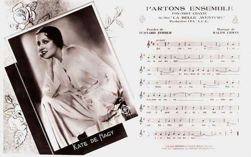 Käthe von Nagy sings Partons ensemble