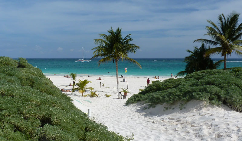 Mexico Tulum spiaggia mara