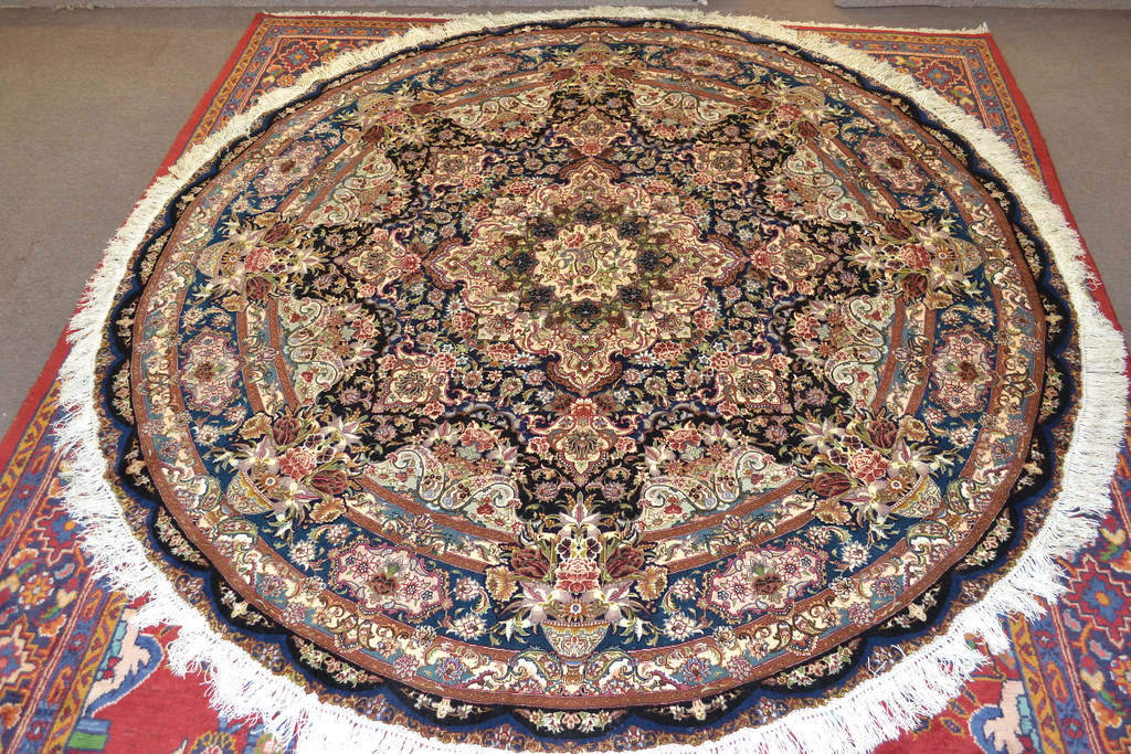 Salari Master Piece 7x7 Persian Area Rug Very detailed Tabriz Rug (3)