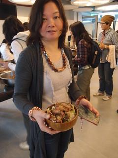 參與者自備餐具,不製造一次性廢棄物;攝影:詹嘉紋