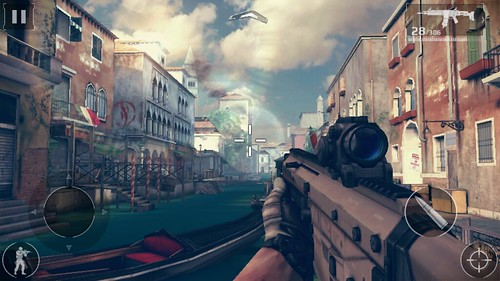 """เกม Modern Combat 5: Blackout บน True SMART 4G 5.5"""" Enterprise"""