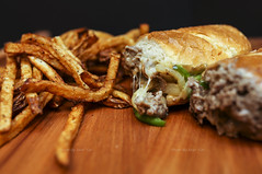 Steak & Cheese w/ Fries - Tortoni's