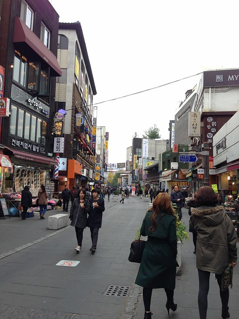 Walking along Insa-dong Street