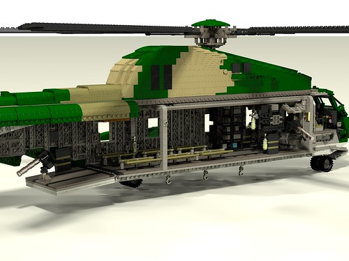 HH-53C Super Jolly Green Giant interior right rear