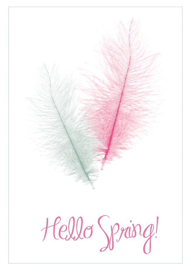 Hello Spring - free printable card - design by alex b