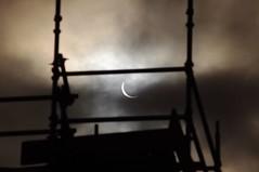 Scaffolding and Crescent Sun