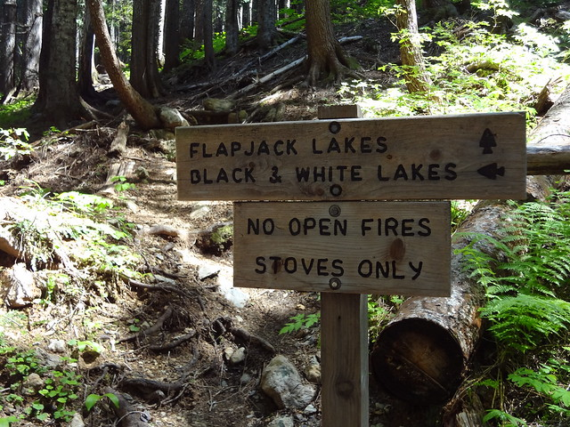 Flapjack Lakes Sign (.5 Mile To Go)