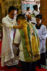 The imposition of the Tilma at THE Chapel of the Tilma inside Our Lady of Guadalupe Parish Church in Pagsanjan, Laguna