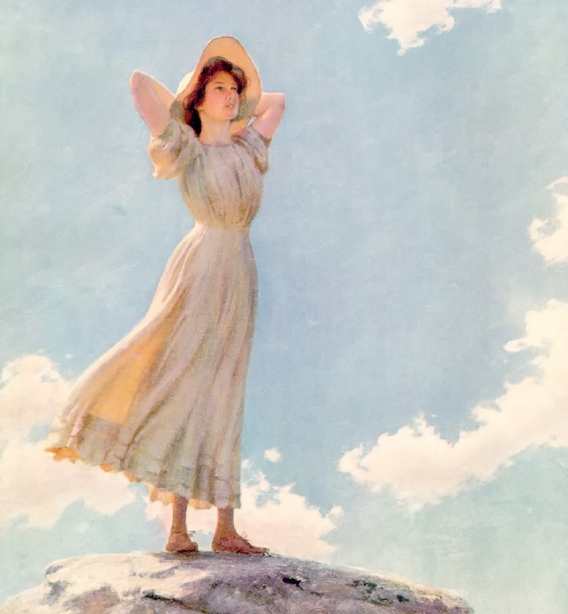 Woman on the Top of a Mountain by Charles Courtney Curran - 1912