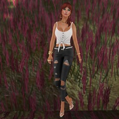 [hh] Becky Ripped Jeans {hh] Serena Top [hh] Elfina Heels Izzies Leather Belt_002