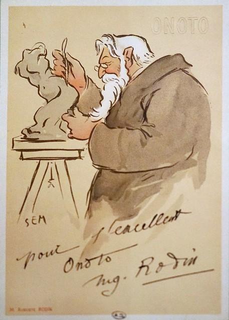Rodin et le stylo Onoto (Musée des arts décoratifs, Paris)