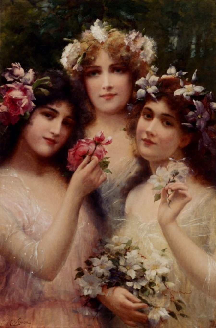 The Three Graces by Emile Vernon - Date unknown