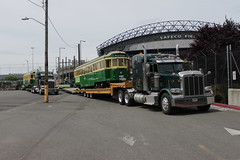 Streetcars readied for trucking