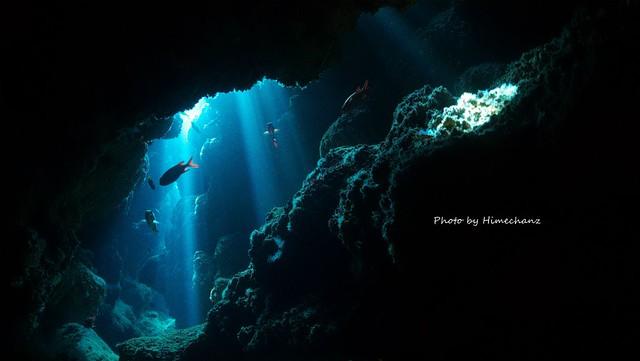 洞窟のレーザービームがキレイでしたね!!!