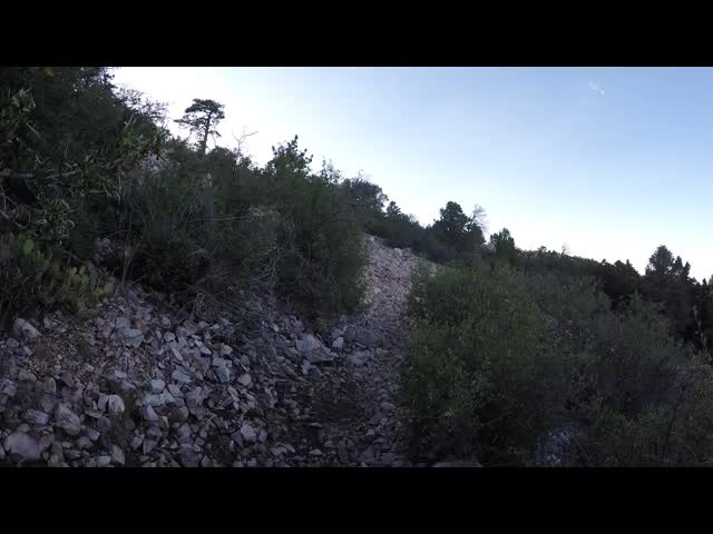 674 GoPro Video of me walking across the noisy talus field - the sound is interesting