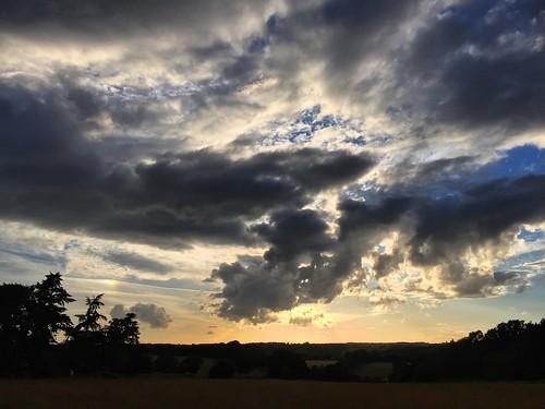 cloudporn clouds fields hampshire headley sundown sunset