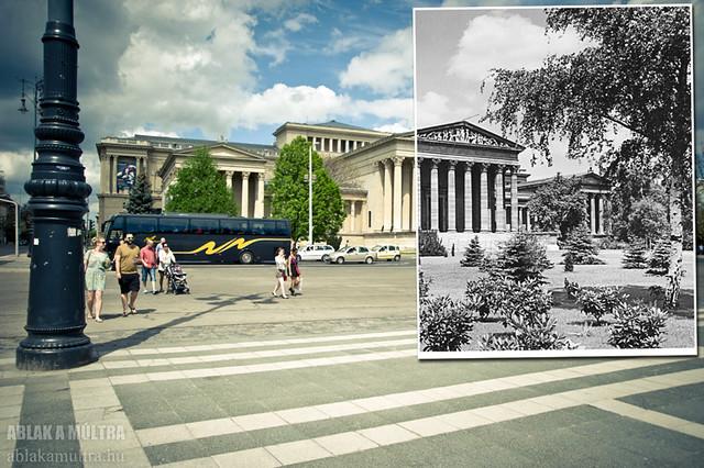 Budapest, XIV. Hősök tere, Szépművészeti Múzeum fortepan_24131