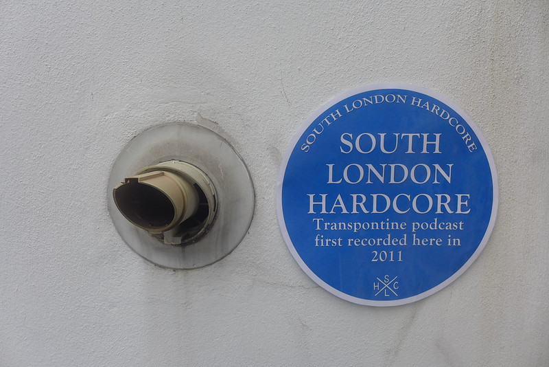 South London Hardcore blue plaque