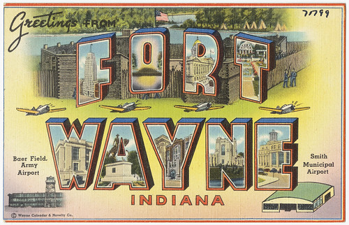 Greetings from Fort Wayne, Indiana -- Baer Field Army Airport, Smith Municipal Airport