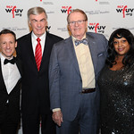 George Bodarky, Sam Donaldson, Charles Osgood and Robin Shannon. At the Edison Ballroom in New York City, May 9, 2013. Photo by Chris Taggart