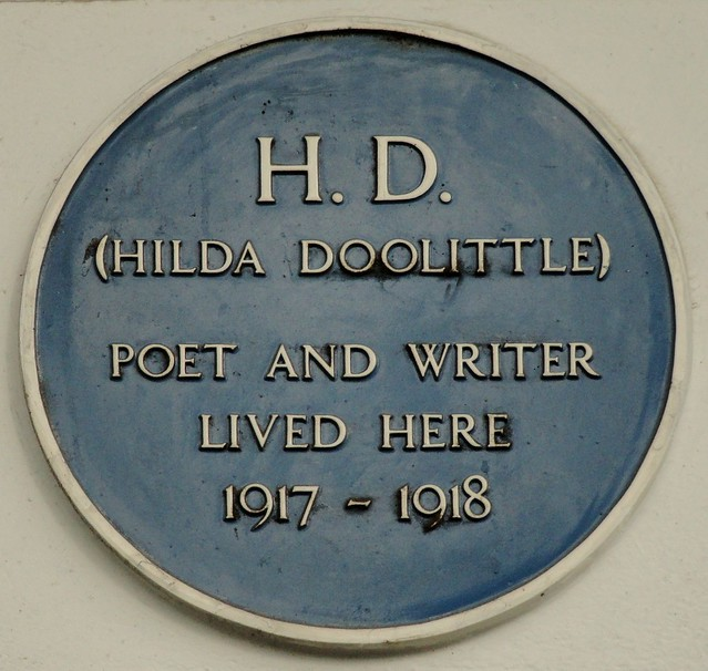 Photo of Hilda Doolittle blue plaque