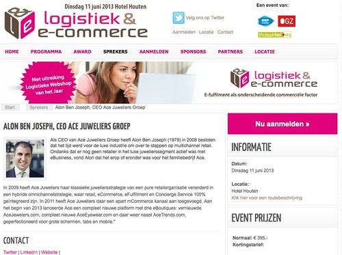 Screen shot LogistiekenEcommerce.nl May 2013