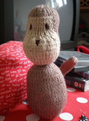 Knitted Monkey in Progress
