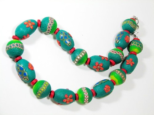 Polymer Clay Ethnic Style Necklace