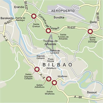 mapa de espanha bilbao Mapa Metro Bilbau mapa de espanha bilbao
