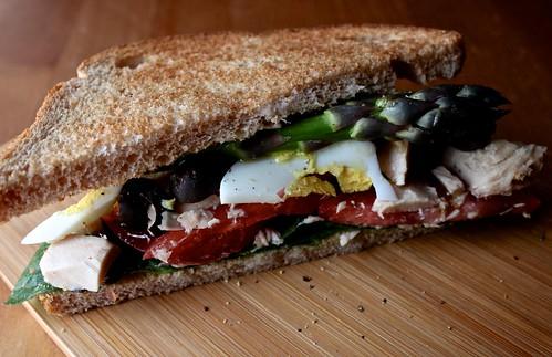 nicoise sandwich with egg