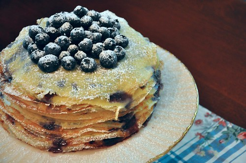 Maple & Blueberry Crepe Cake