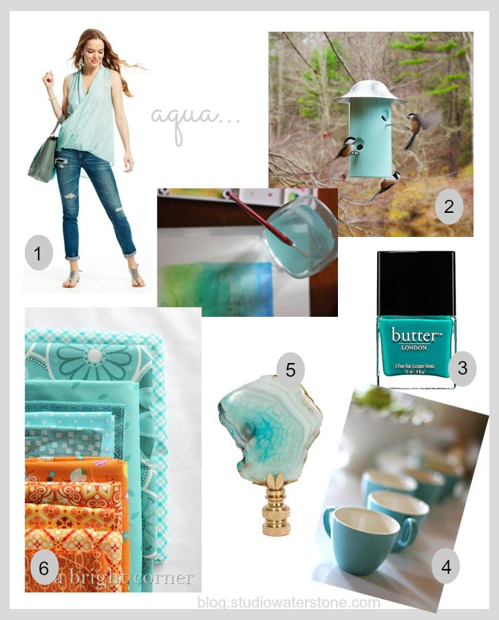 paint water inspiration - aqua