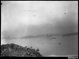 HMS HOOD in Sydney Harbour