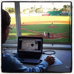 Final score wasn't pretty but the San Jose Giants looked good from the press box.
