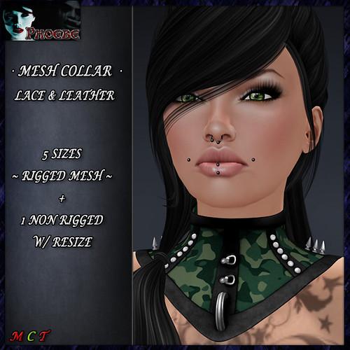 *P* Jessica MESH Collar ~Green Camo 1~