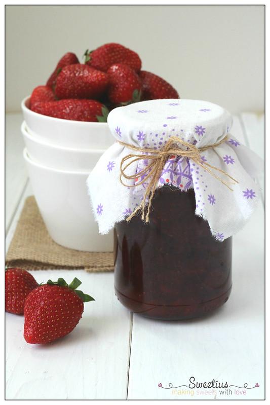 συνταγή για μαρμελάδα φράουλα
