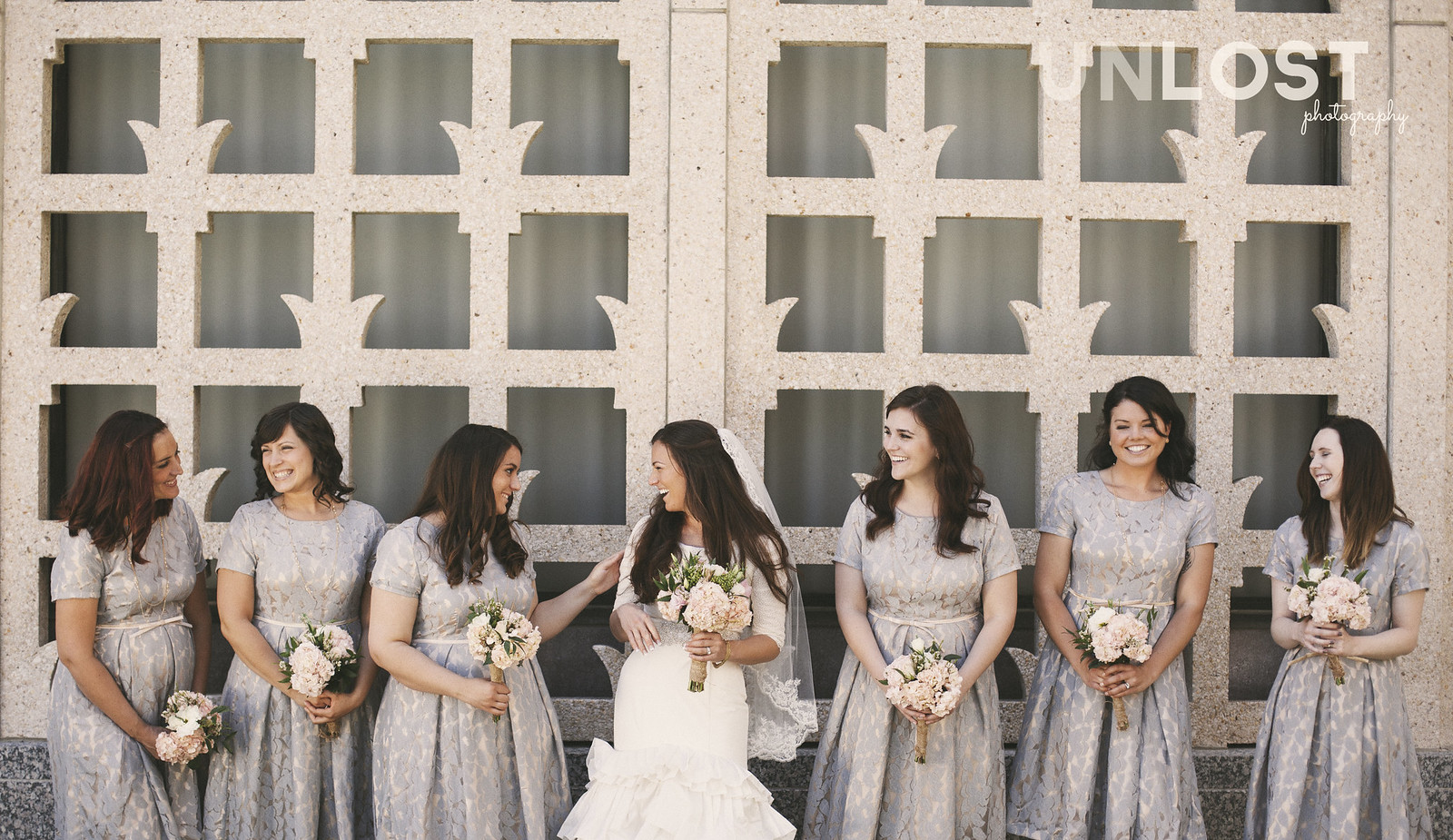 Vintage California Bride and Bridesmaids