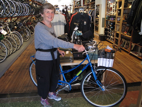 Caroline & her new bike at Huckleberry
