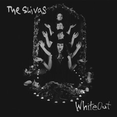 the shivas album cover featuring a black and white photo