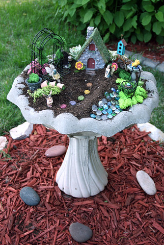 Done Fairy Garden Entire Bird Bath