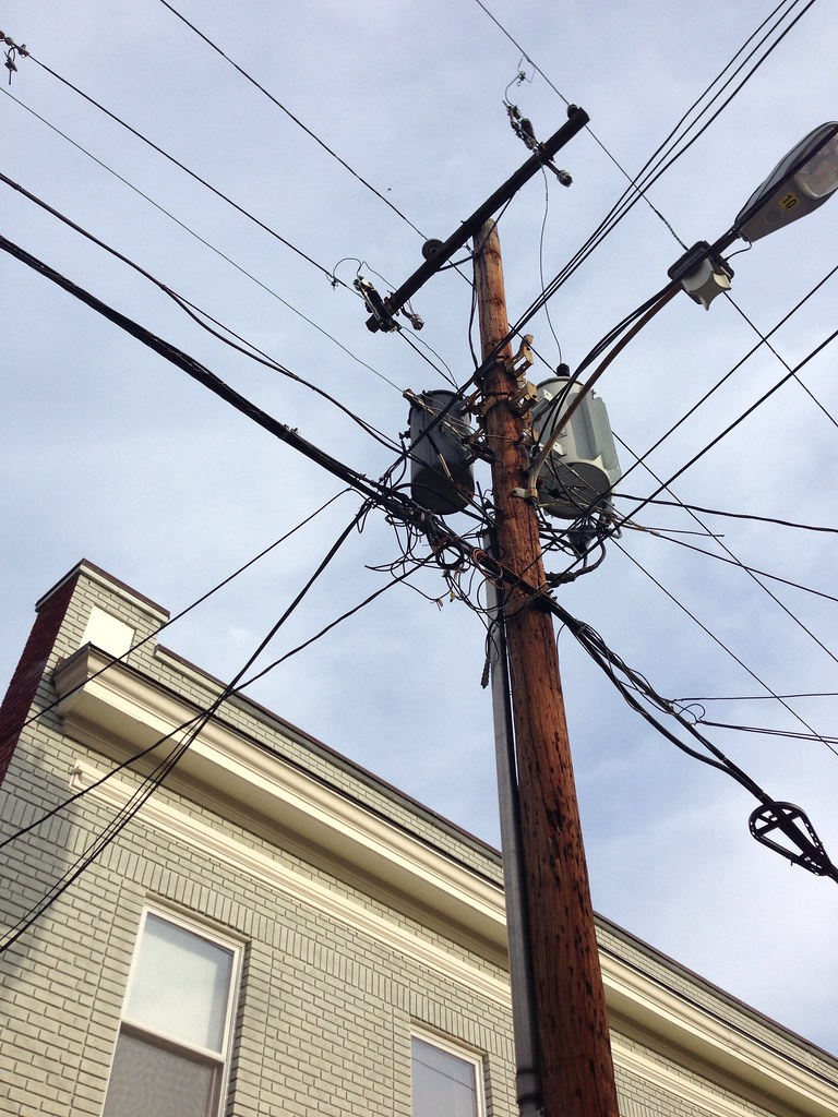 Wires, Wires, Everywhere, On the Walls and In the Air - Old Town Home