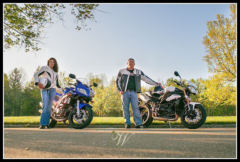 Rochester NY Wedding Engagement Photographer Letchworth Motorcycle Camping Hiking Dog