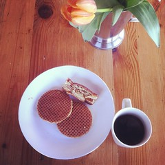 stroopwafels for breakfast